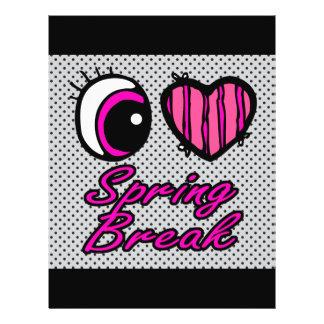 Emo Eye Heart I Love Spring Break Full Color Flyer