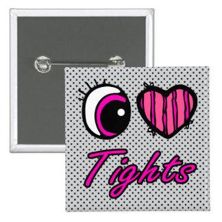 Emo Eye Heart I Love Tights 15 Cm Square Badge