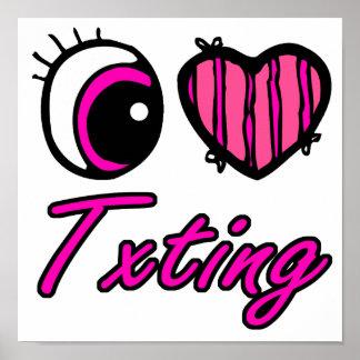 Emo Eye Heart I Love Txting Posters