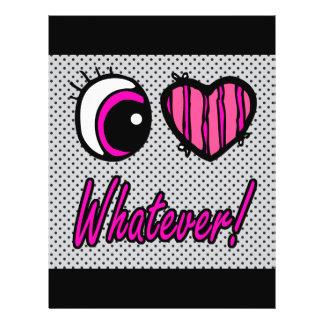 Emo Eye Heart I Love Whatever 21.5 Cm X 28 Cm Flyer