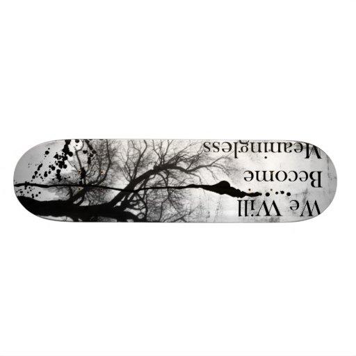 Emo Gothic Skateboard Black and White