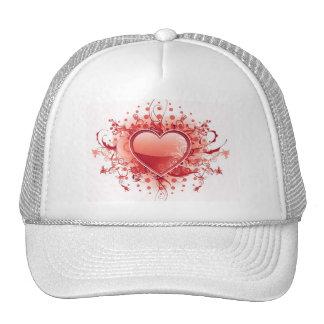 Emo Heart Design Baseball Hat