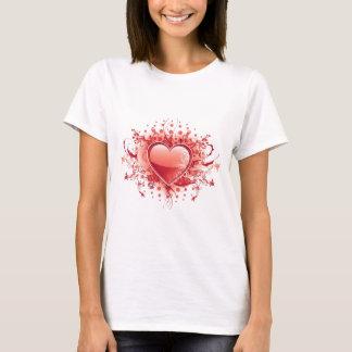 Emo Heart Design Ladies T-Shirt