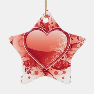 Emo Heart Design Ornaments