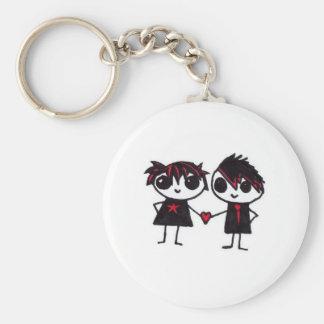 Emo in love key ring