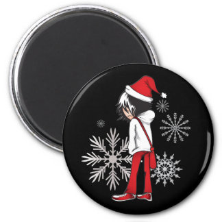 Emo Kid Christmas Gifts 6 Cm Round Magnet