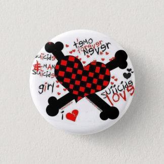 emo/love 3 cm round badge