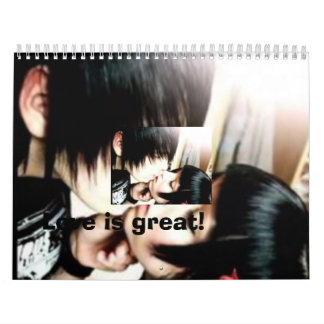 emo love, Love is great! Wall Calendars