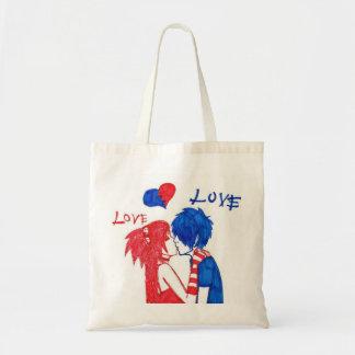 Emo Love Tote Bags