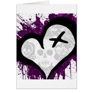 Emo Loveheart Card