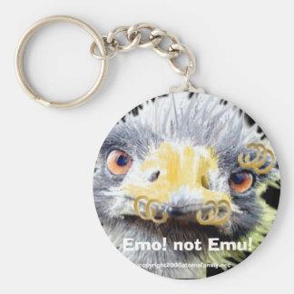 Emo not Emu Keychains