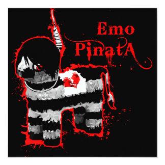 emo pinata 13 cm x 13 cm square invitation card