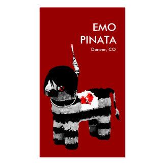 emo pinata business card templates