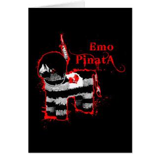 emo pinata greeting card