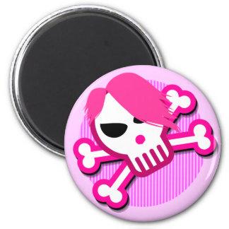 Emo skull on magnet