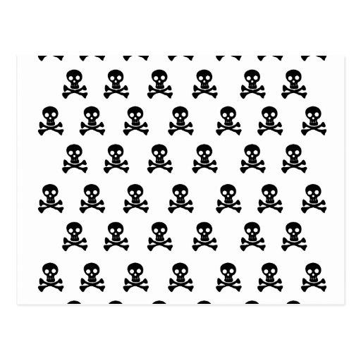 Emo Skulls Black- Emo Alternative Grunge Rock Punk Postcard