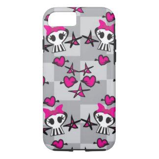 Emo Skulls Pattern iPhone 8/7 Case