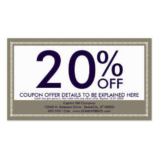 emo style coupon discount pack of standard business cards