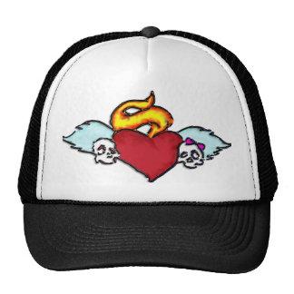 emo tattoo skull hat