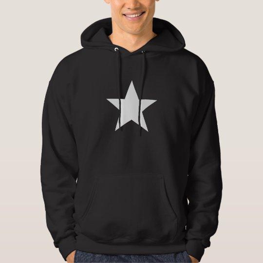 Emo White Star Hoodie