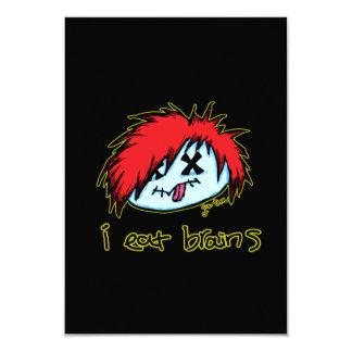 Emo Zombie (on dark backround) 9 Cm X 13 Cm Invitation Card