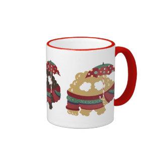 Emoc in Festive Season Ringer Mug