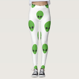 emoji aliens leggings