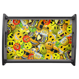 Emoji animated faces serving tray