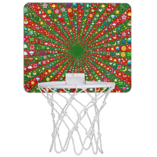 Emoji-art converging rays mini basketball mini basketball hoop