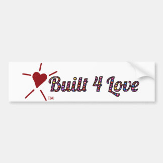 Emoji-art, heart-filled, Built4Love and logo Bumper Sticker