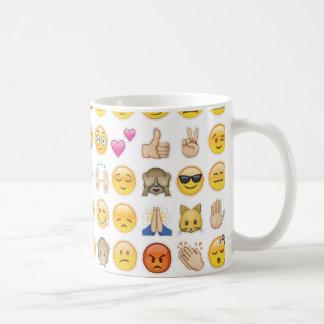 emoji basic white mug