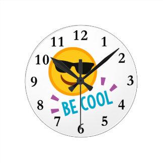 Emoji Be Cool Wall Clocks