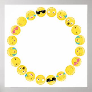 Emoji Birthday Party Selfie Photobooth Backdrop Poster