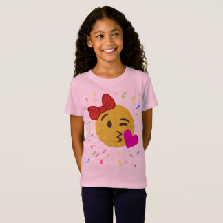 Emoji Birthday Shirt - Girl Heart Kiss