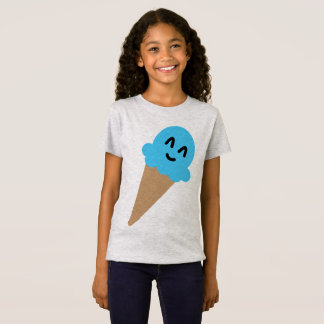Emoji blue ice cream shirt. T-Shirt