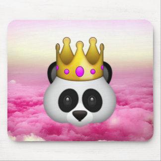 Emoji Crowned Panda Mouse Mat