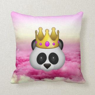 Emoji Crowned Panda Throw Cushions