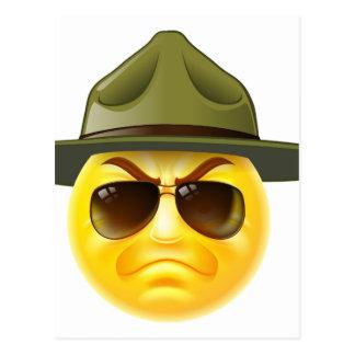 Emoji Emoticon Drill Sergeant Postcard