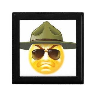 Emoji Emoticon Drill Sergeant Small Square Gift Box
