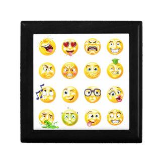 Emoji Emoticon Set Small Square Gift Box