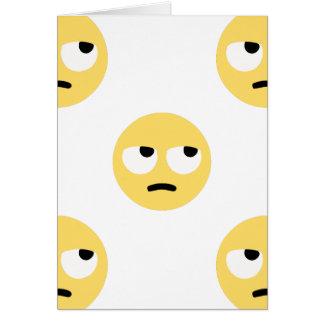 emoji eye rolling card