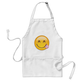 Emoji Face Savouring Delicious Food Aprons