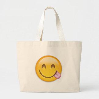 Emoji Face Savouring Delicious Food Bag