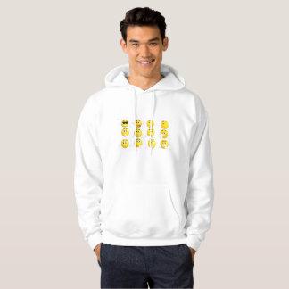emoji faces Men's Basic Hooded Sweatshirt