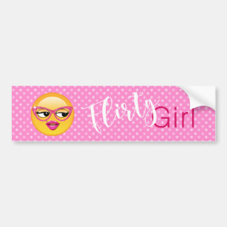 Emoji Flirty Girl ID227 Bumper Sticker