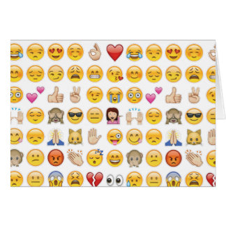 emoji greeting card