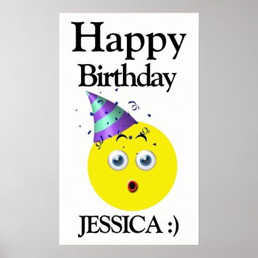 Emoji Happy Birthday Surprise Poster