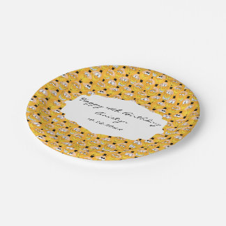 Emoji Happy Silly Yellow Faces Paper Plate