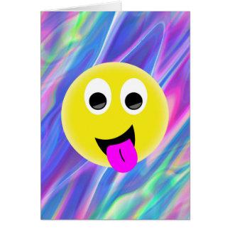 emoji hologram greeting card