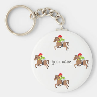 """Emoji Horse Riding  and '' Your Name Here """" Key Ring"""